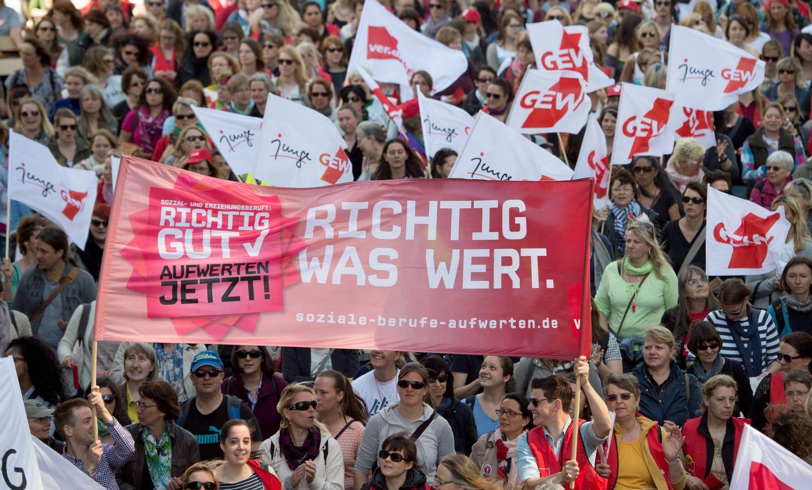 Erzieher Demo Hessen