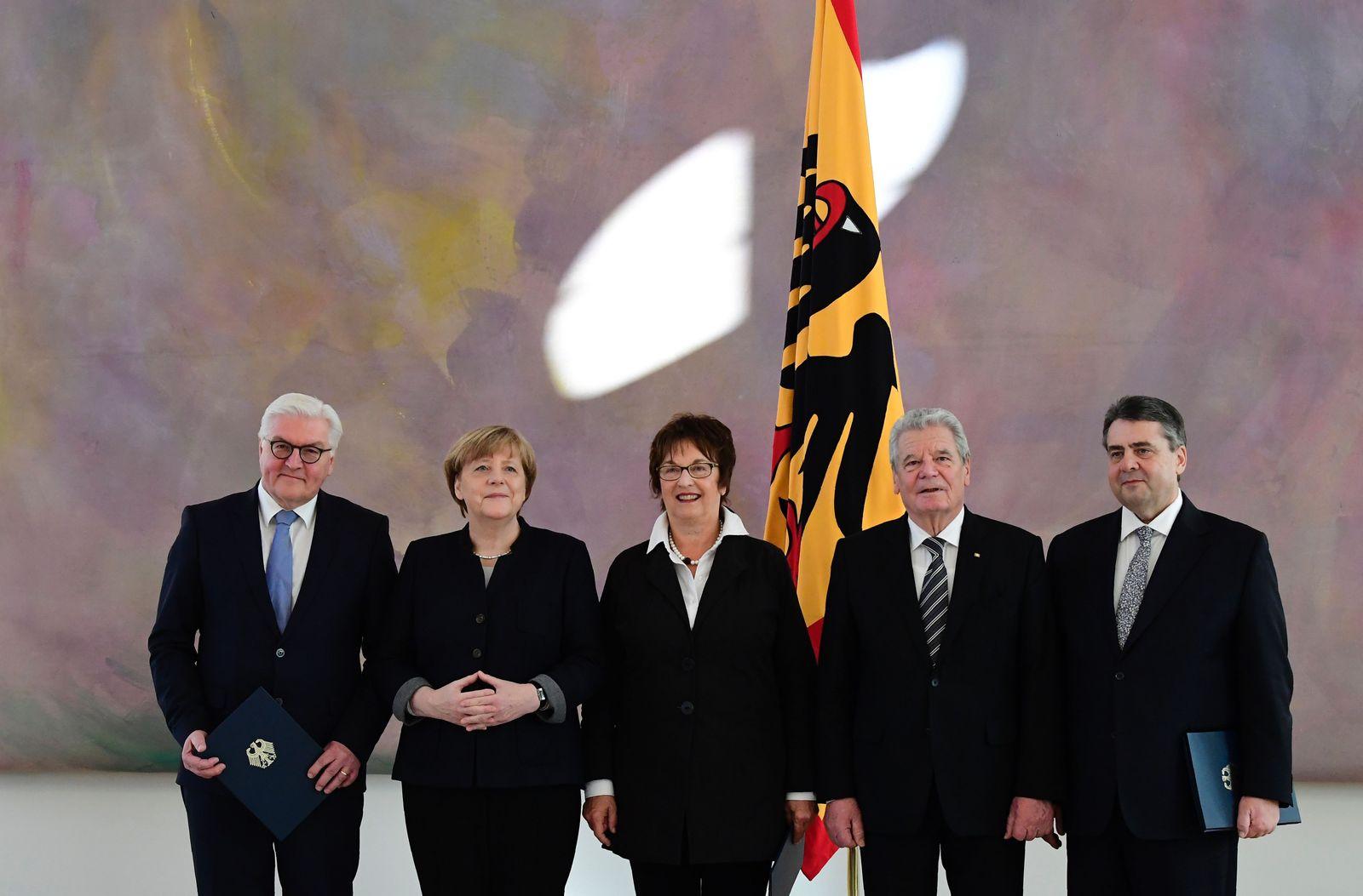 Gauck Zypries Steinmeier Gabriel Merkel