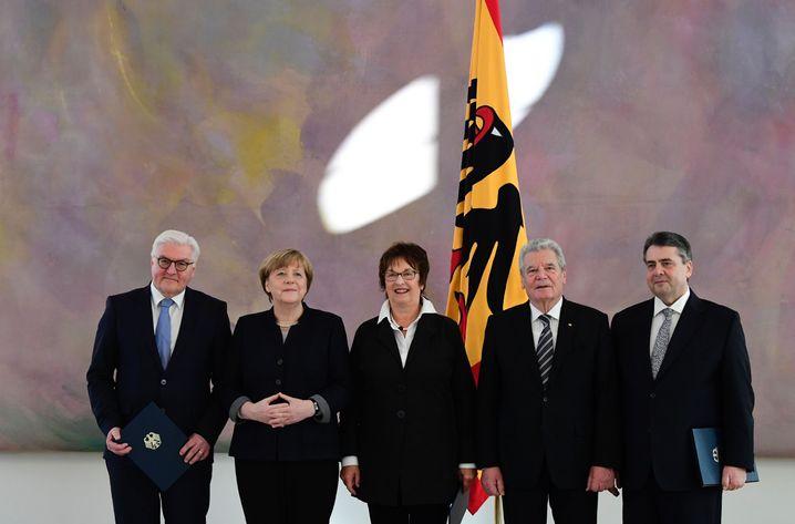 Steinmeier, Merkel, Zypries, Gauck und Gabriel