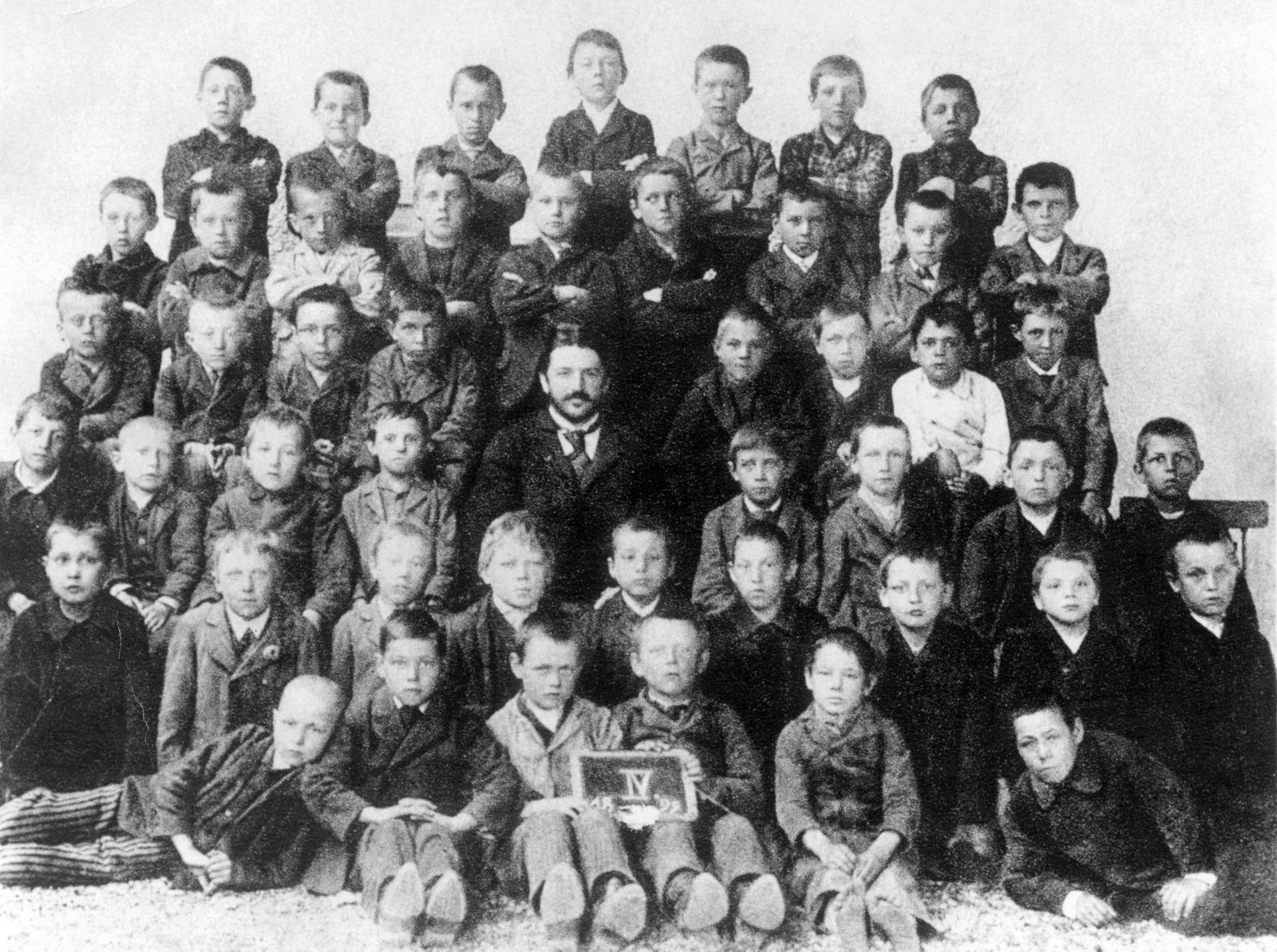 Classroom Portrait Including Adolf Hitler