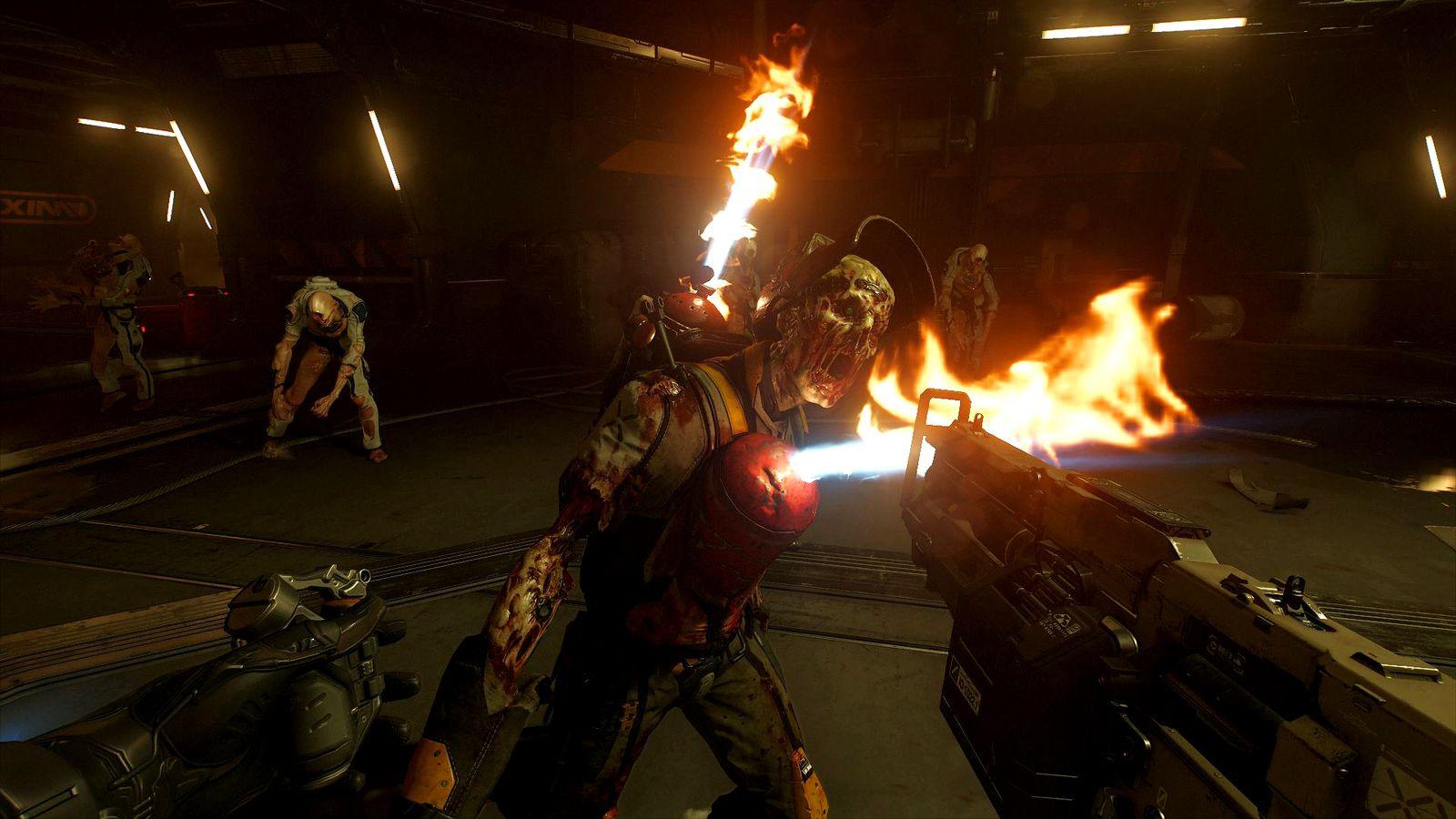 EINMALIGE VERWENDUNG NUR ALS ZITAT Screenshot/ Doom VR