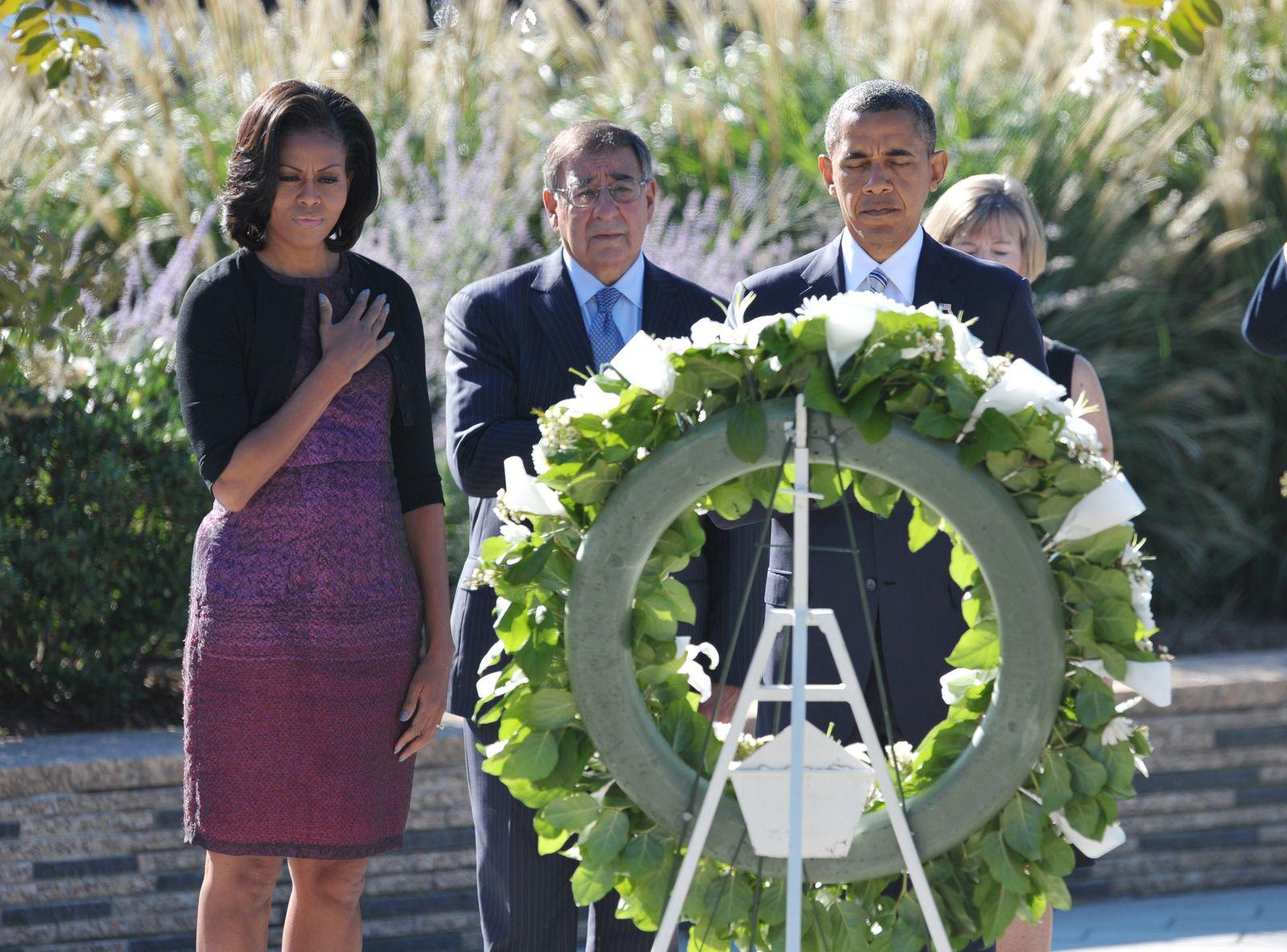 Barack und Michelle Obama / 9/11-Gedenkfeier