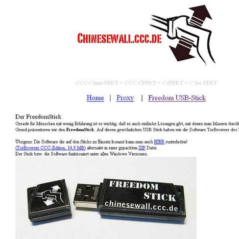 """Anti-Zensur-Aktion: Per USB-Stick die """"Chinesewall"""" untertunnelt"""