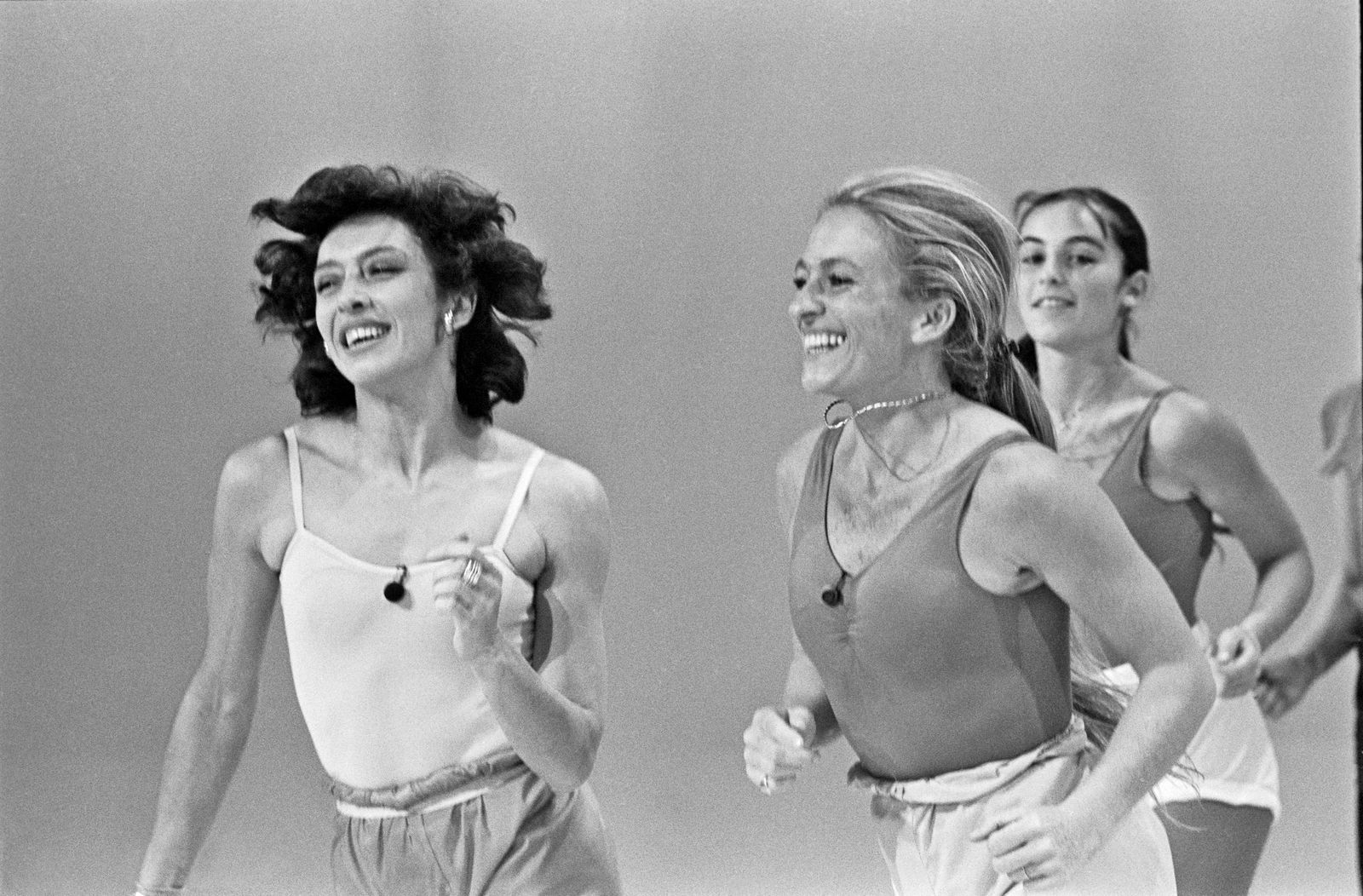 TV Aerobics Instructors Veronique and Davina