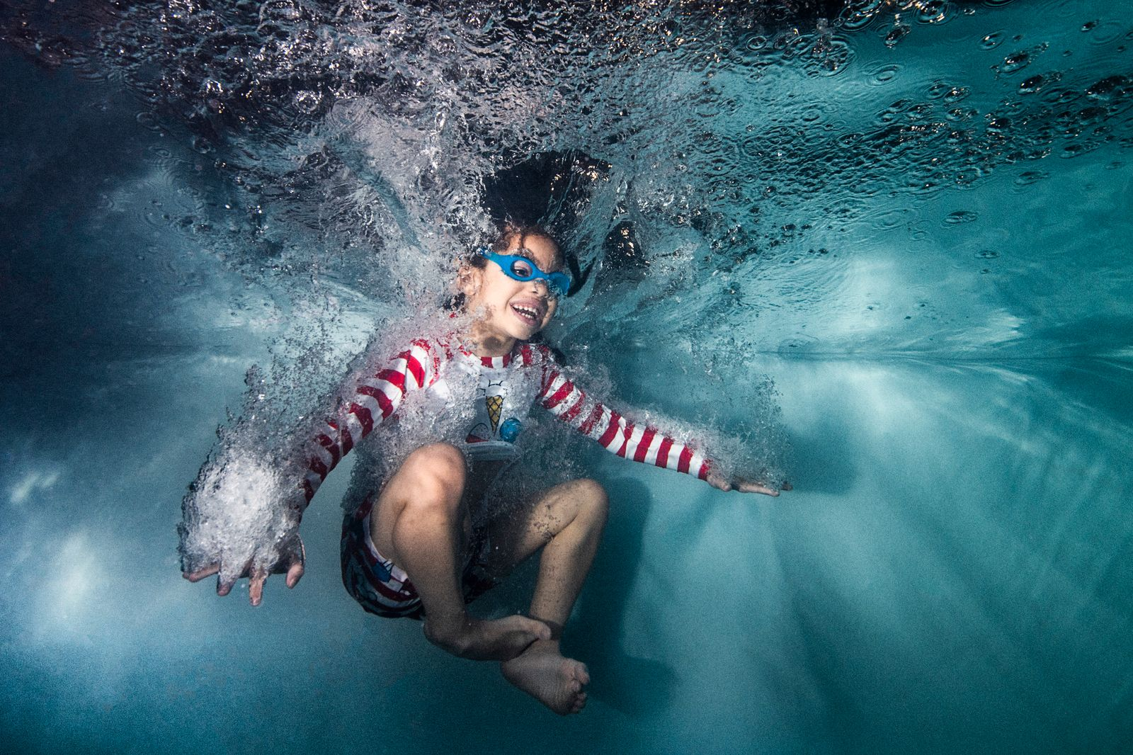 Learn to swim in childhood