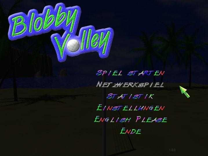 """Menü von """"Blobby Volley"""""""