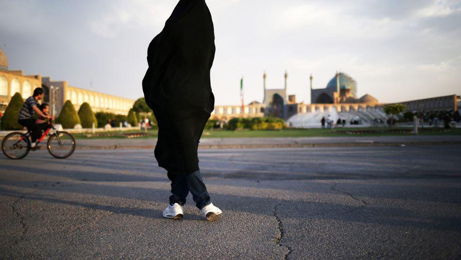 Iranerin in Isfahan: In der Stadt hat es mehrere Säureangriffe auf Frauen gegeben.