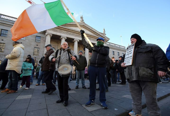 Demonstration in Dublin: Kampf gegen die Sparpolitik