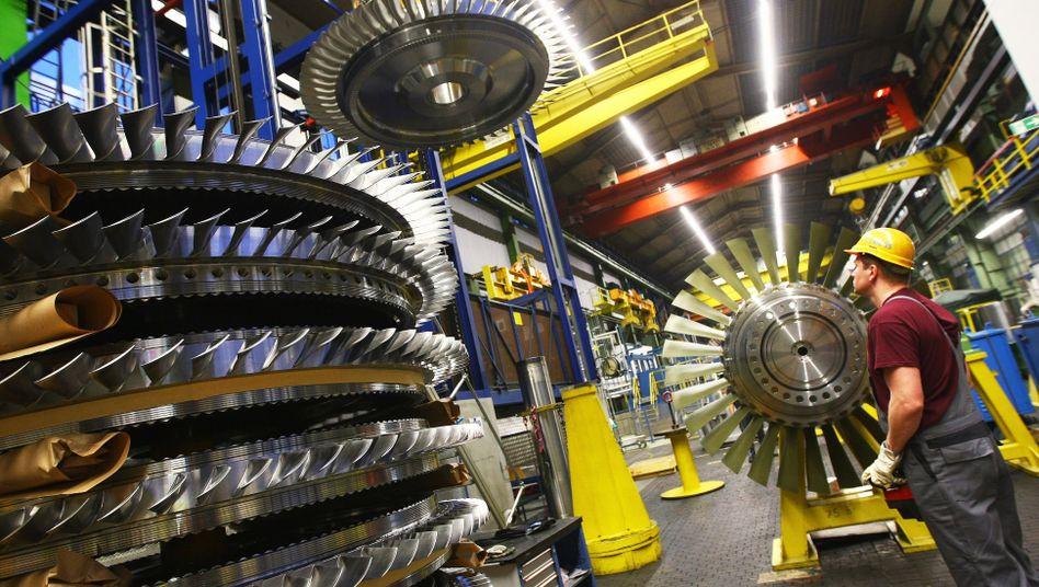 Gasturbinenwerk von Siemens: Platz drei unter den weltweiten Konzernen