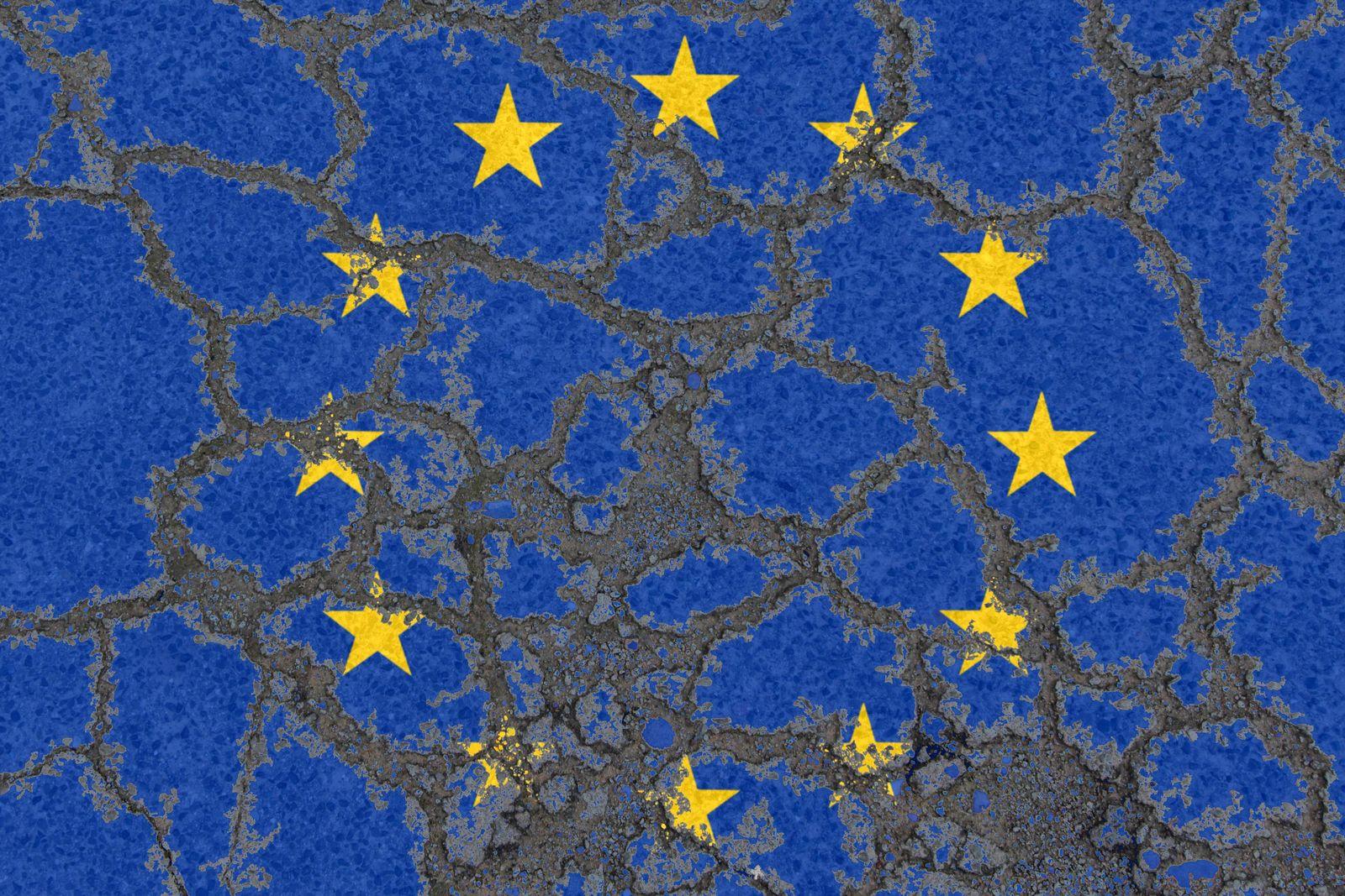 EINMALIGE VERWENDUNG EU Flagge