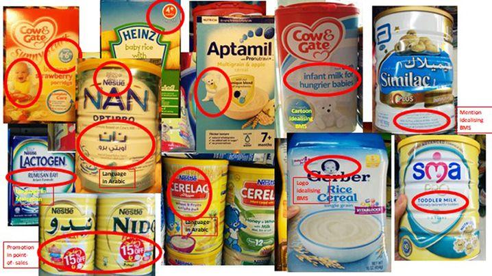 Verstöße gegen den WHO-Kodex auf Produktetiketten in Bangladesch