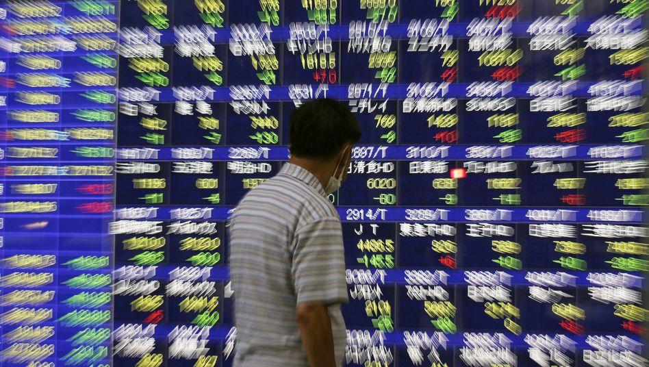 Börse in Japan (Archivbild): Nervöse Stimmung weltweit