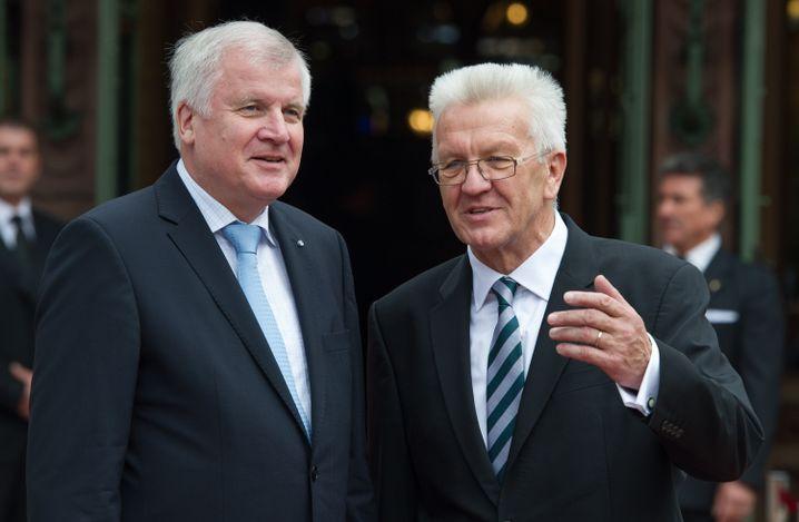 Verstehen sich: CSU-Chef Horst Seehofer und Winfried Kretschmann