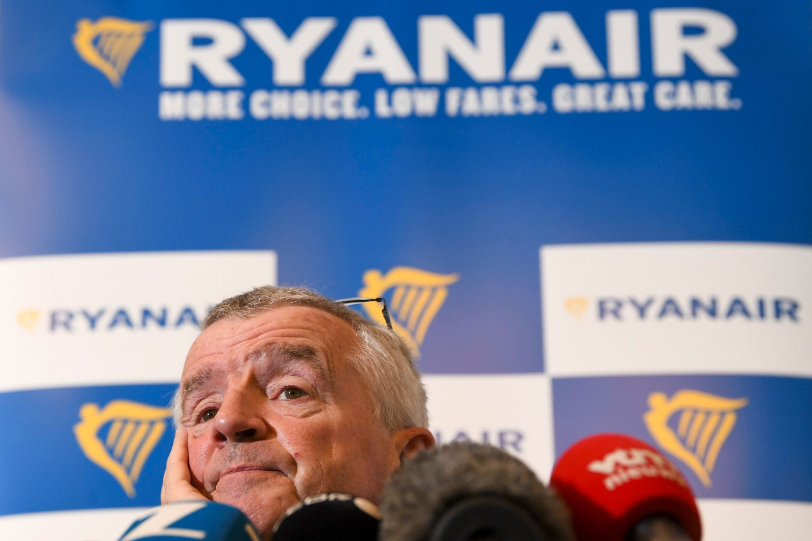 Post-Covid: Ryanair CEO Michael O'Leary bei einer Pk in Brüssel