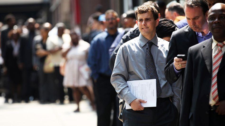 Anstehen für die Jobmesse (hier 2012 in New York): Diese Zeiten sind vorbei.