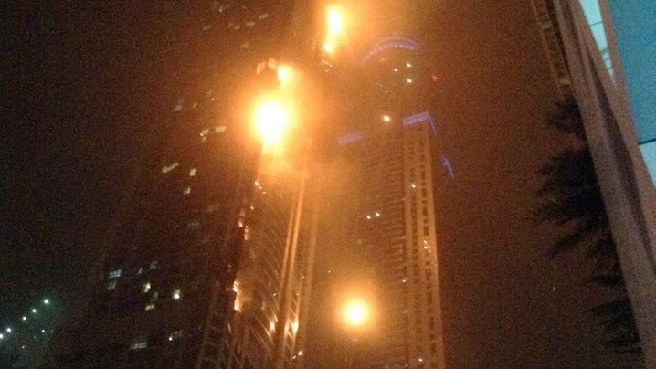 Wolkenkratzer in Dubai: Feuer im 50. Stock