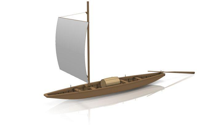 Römerschiff-Experiment: Segeln, Treideln, Staken