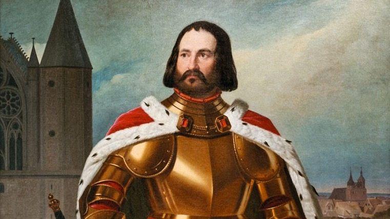 Idealisierung:1836 ließ Karl II., Herzog zu Braunschweig und Lüneburg, seinen Vorfahren Heinrich in Öl malen - als heroischen Herrscher, der selbst Löwen handzahm machte