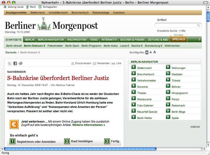 Berliner Morgenpost/ Screenshot