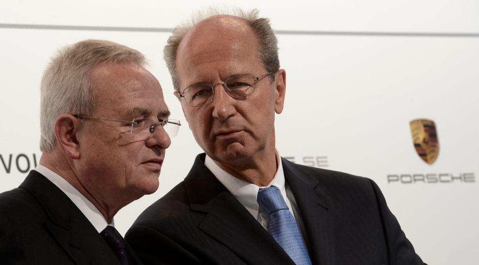 Martin Winterkorn und Hans Dieter Pötsch