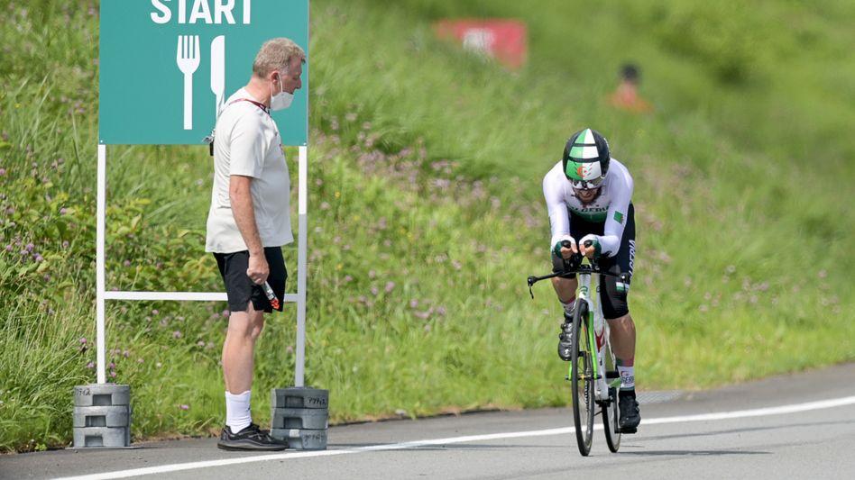 Radsport-Funktionär Patrick Moster, Radrennfahrer Azzedine Lagab beim Einzelzeitfahren: Als »Kameltreiber« beleidigt