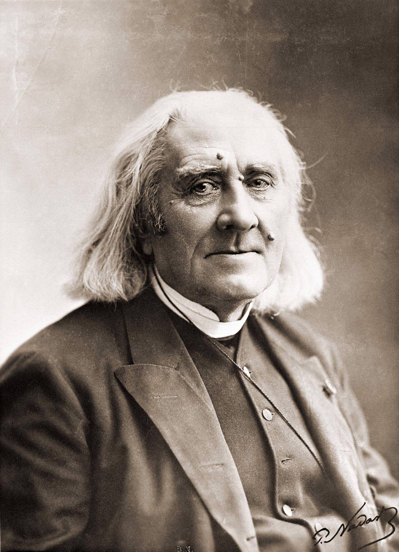 Portrait de Franz Liszt par Nadar Photographie du 19ème siècle AUFNAHMEDATUM GESCHÄTZT PUBLICATI
