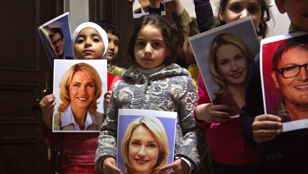 Kunstaktion: Nur ein Kind darf leben