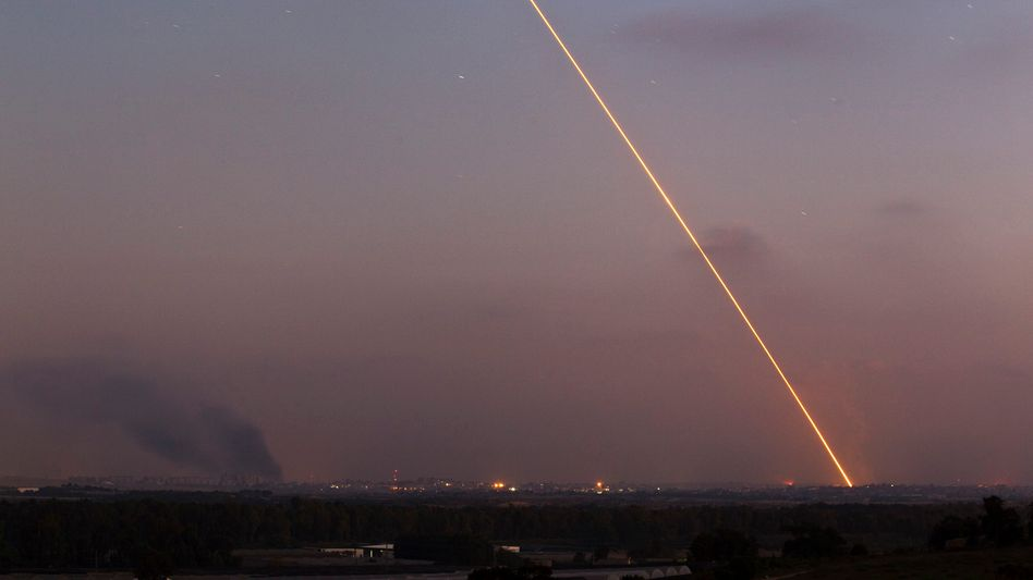 Abschuss von Hamas-Rakete auf Israel (Archivbild): Ende der Waffenruhe