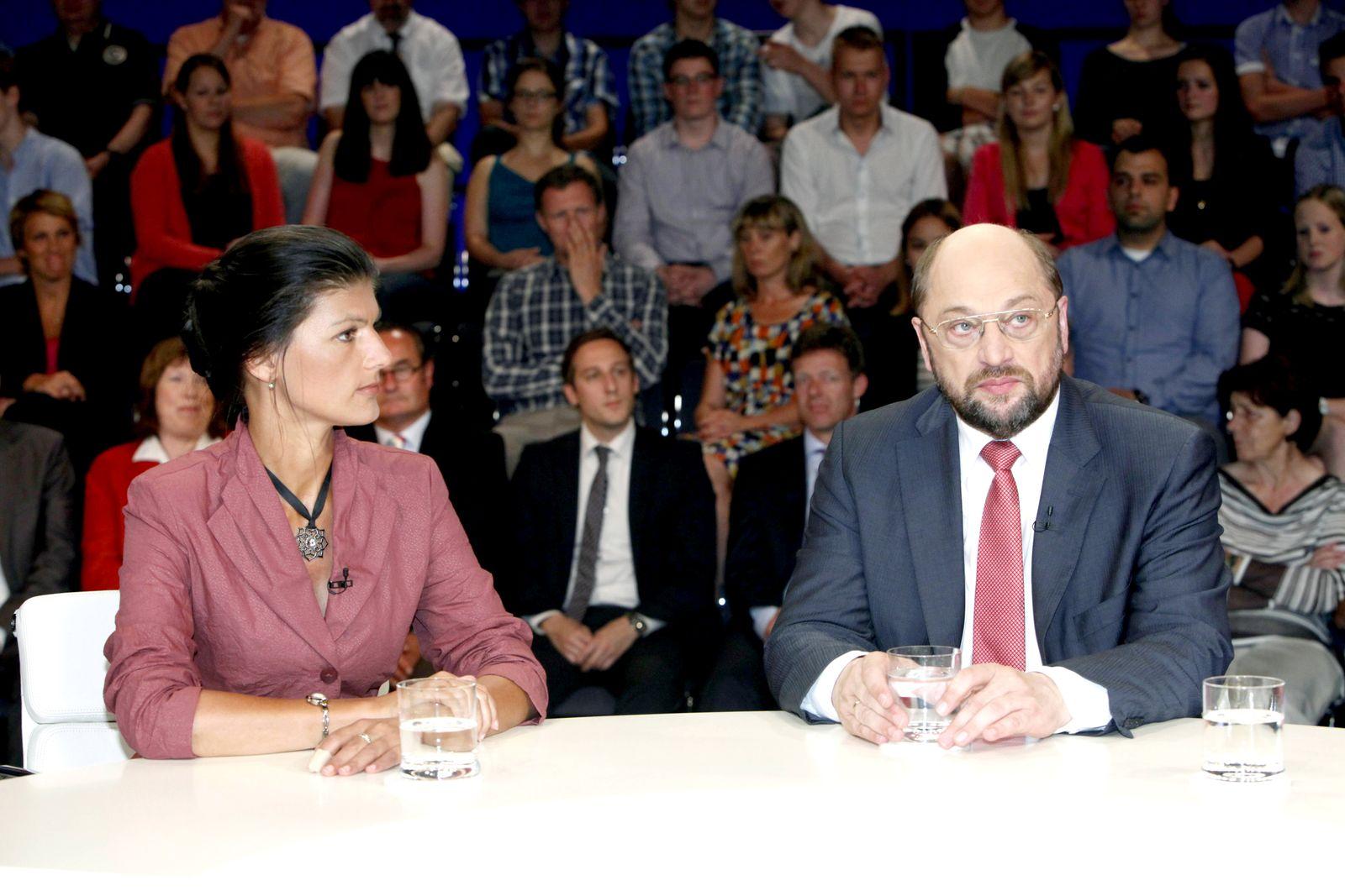 EINMALIGE VERWENDUNG Wagenknecht/ Schulz