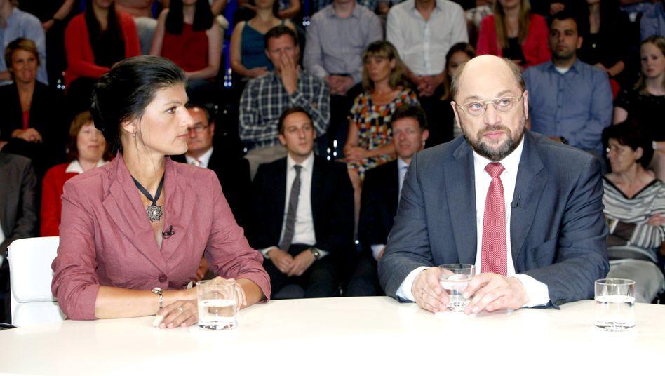 Linke-Politikerin Wagenknecht, Sozialdemokrat Schulz (Archivbild von 2012)