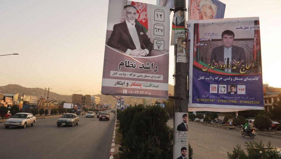 Wahlplakate in Afghanistan