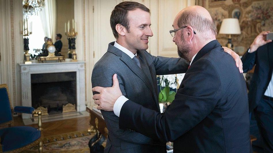 Europafreunde Macron, Schulz in Paris 2017