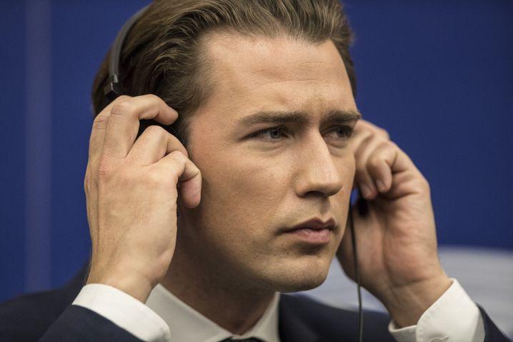 Sebastian Kurz im Europäischen Parlament