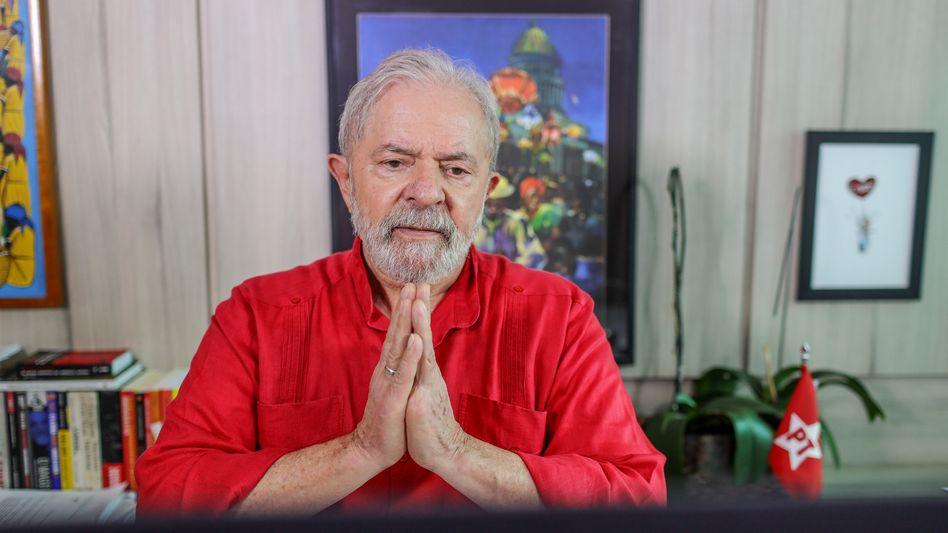 Brasiliens ehemaliger Präsident Lula beim Zoom-Interview mit dem SPIEGEL: »Fünf Jahre haben meine Gegner versucht, das Bild von Lula zu zerstören«