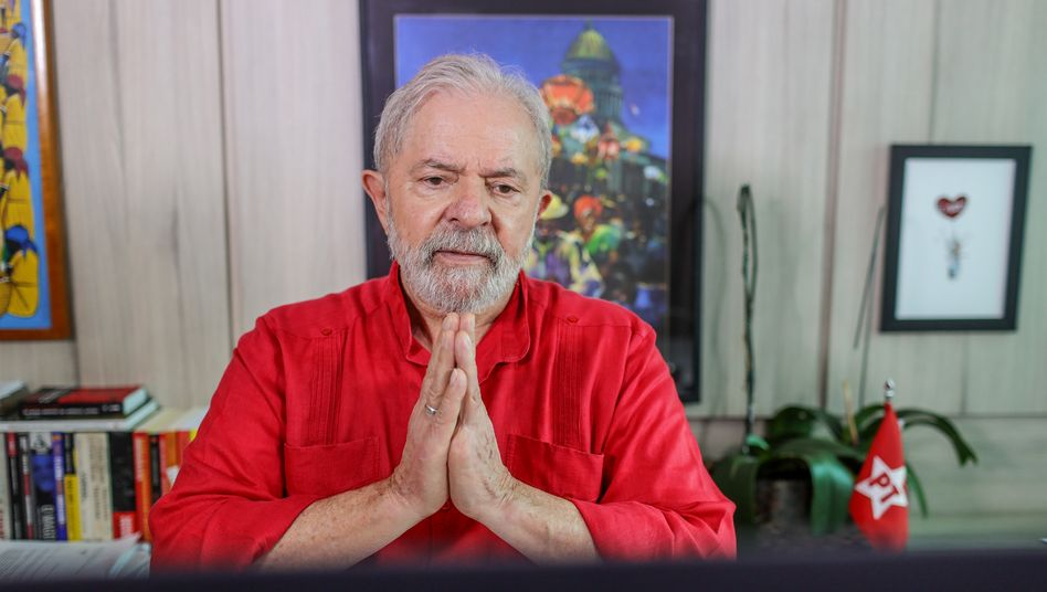 "Former Brazilian President Lula in a Zoom interview with DER SPIEGEL: ""My opponents spent five years trying to destroy the image of Lula, to portray me and my party as corrupt."""