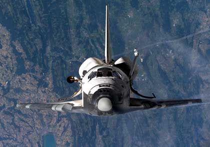 """Raumfähre """"Discovery"""" (Juli 2005): Hochauflösende Bilder der Erde im Fenster"""