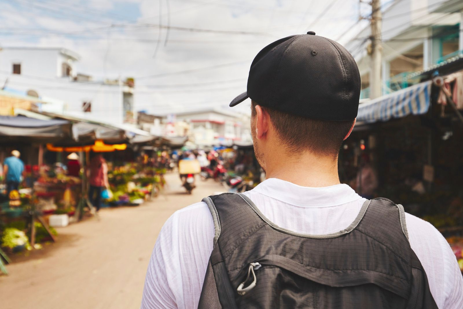 Young traveler with back pack - Phu Quoc, Vietnam (chalabala)