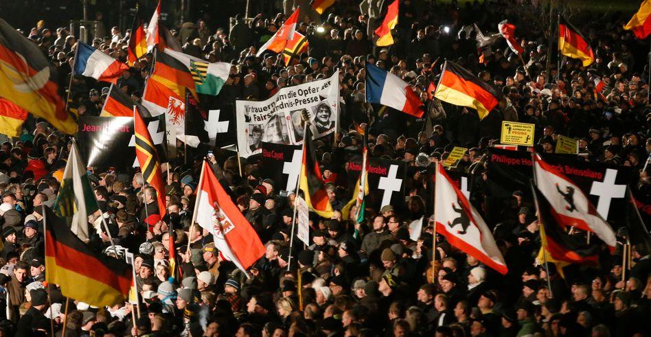 """Pegida in Dresden: """"Klima der Angst"""""""