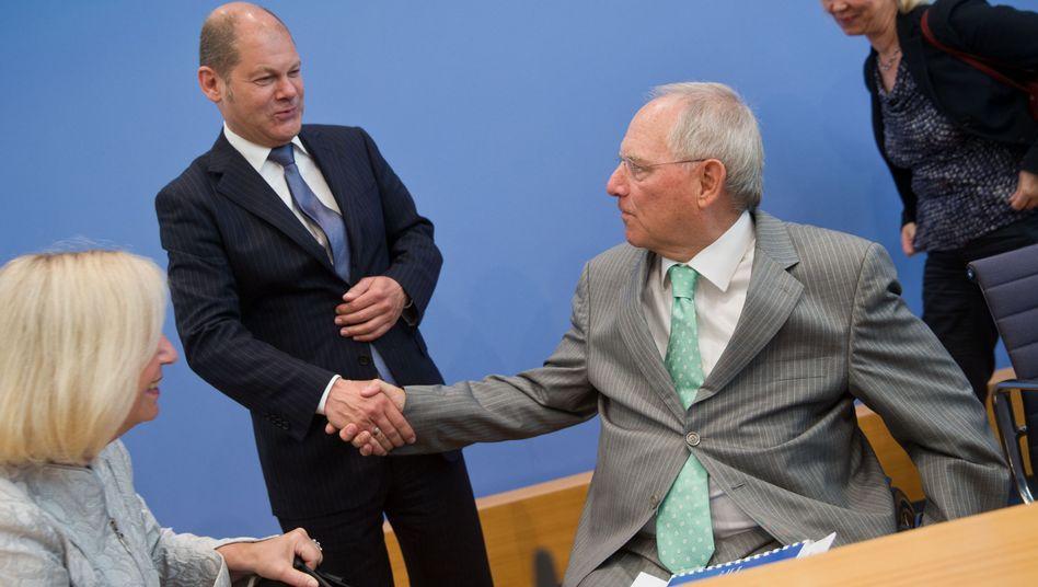 Scholz und Schäuble im Mai 2014: Gemeinsames Positionspapier