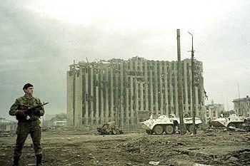 Russischer Soldat in Grosny (Februar 1995): Die Logik des Krieges schnell begriffen