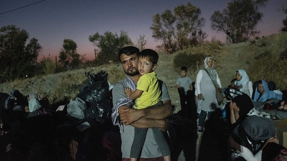Evakuierung von Migranten auf Lesbos