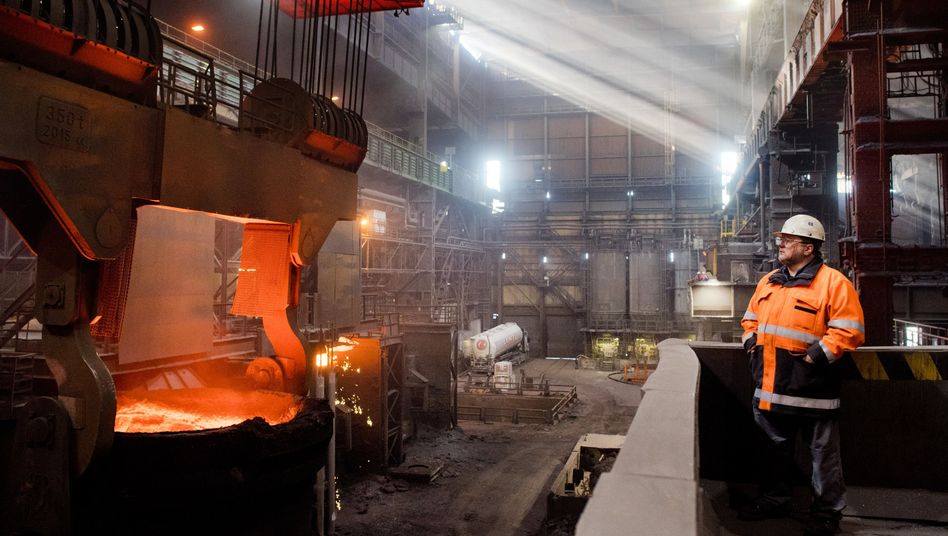 Stahlwerk in Niedersachsen