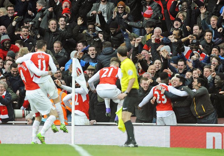 Mannschaft des FC Arsenal: Siegtor in Minute 95
