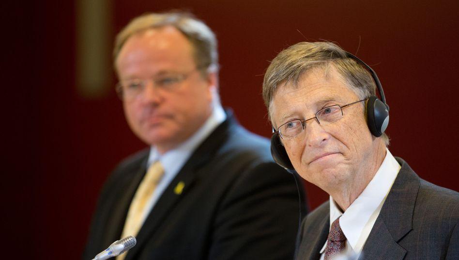 Entwicklungsminister Niebel, Microsoft-Gründer Gates: Wichtiger Geschäftspartner