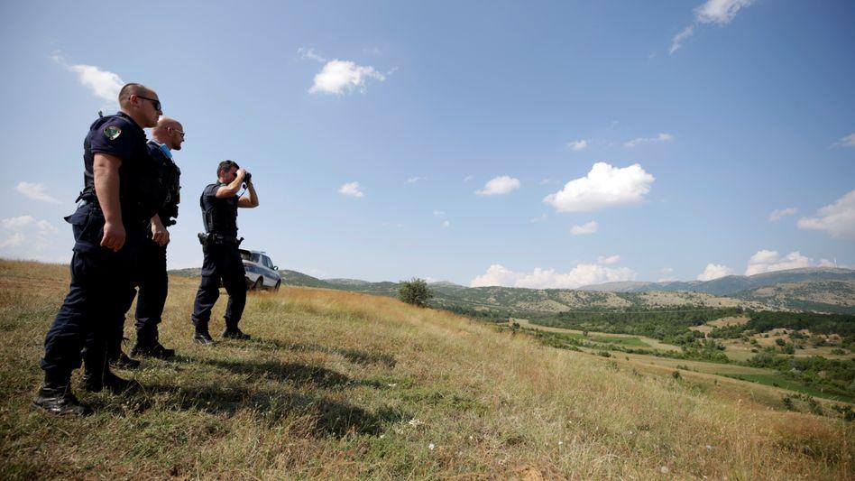 Frontex-Beamte an der albanisch-griechischen Grenze (Symbolfoto)