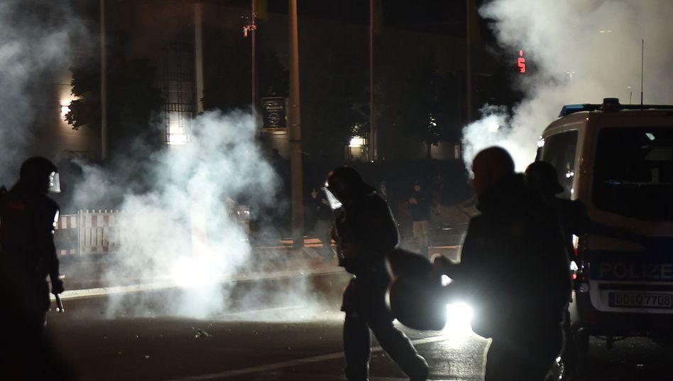 Polizeieinsatz in Heidenau 2015