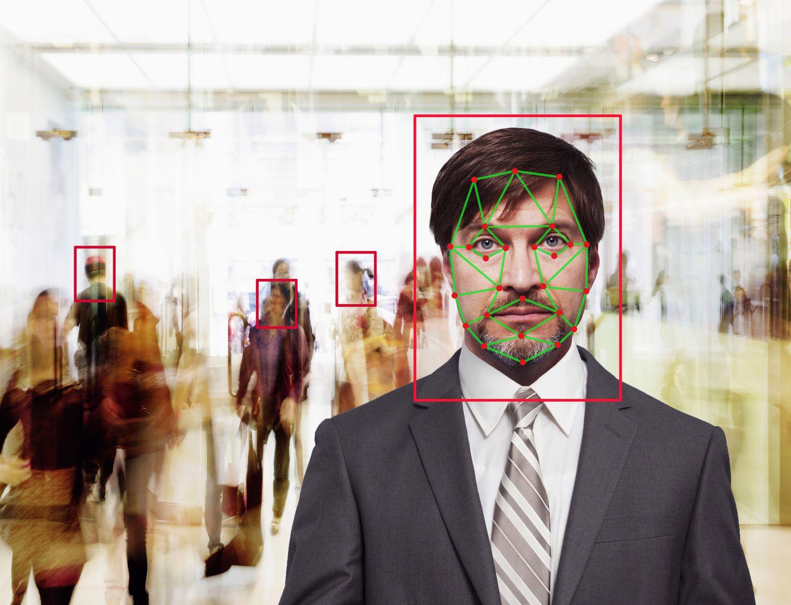 EINMALIGE VERWENDUNG Gesichtserkennung / Symbolbild
