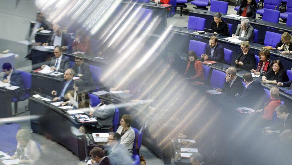 Blick in den Plenarsaal des Deutschen Bundestags