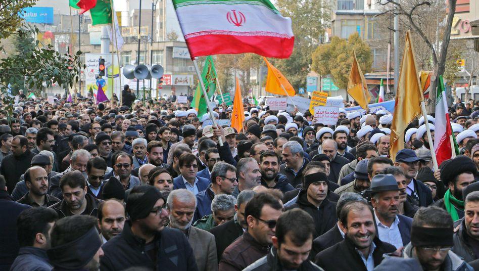 Demonstrationen im iranischen Ardabil im November 2019