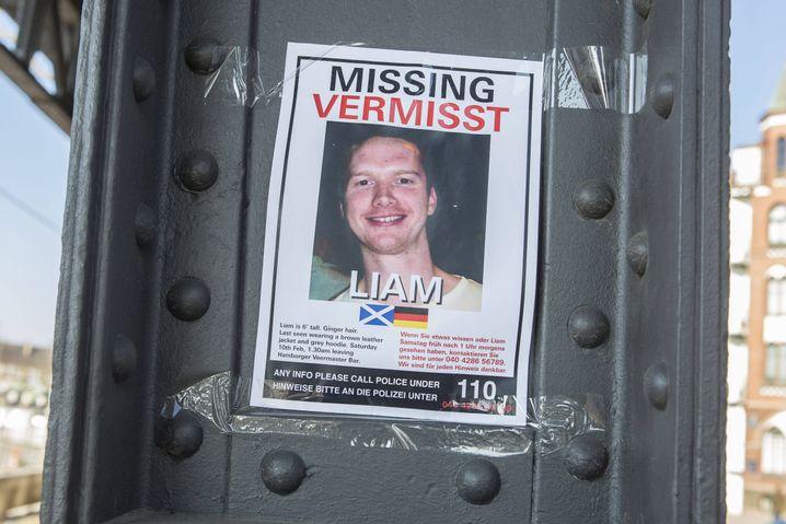 Suchplakat für Liam Colgan in Hamburg